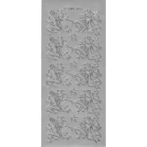 Samolepicí kontury - zvonky 2 stříbro