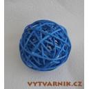 Lata ball 4 cm  - modrá