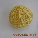 Lata ball 4 cm  - žlutá
