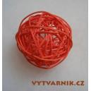 Lata ball 4 cm  - červená