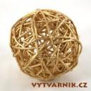 Lata ball 3 cm  - zlatá