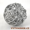 Lata ball 3 cm - stříbrná
