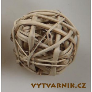 Lata ball 4 cm  - přírodní