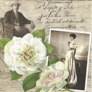 Ubrousek - bílá růže