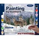 Malování podle čísel - vlci