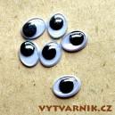 Oči oválné - 10 mm