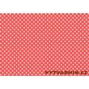 Fotokarton A4 - puntíky červenobílé