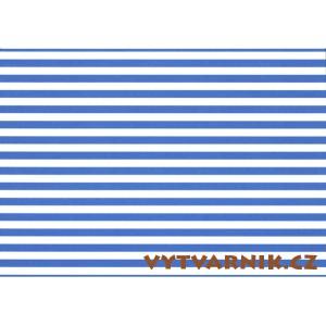 Fotokarton A4 - pruhy modrobílé