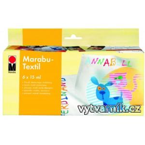 Sada barev Marabu textil 15 ml