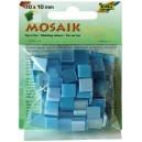 Mozaiková sklíčka - modrý mix 10x10 mm