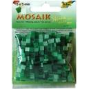 Mozaiková sklíčka - zelený mix 5x5 mm