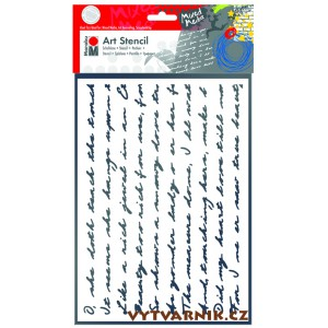 Art šablona A4 - Script