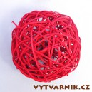 Lata ball 6 cm  - červená