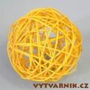 Lata ball 6 cm - žlutá