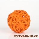 Lata ball 4 cm  - oranžová