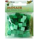 Mozaiková sklíčka - zelený mix 10x10 mm