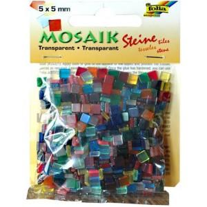 Mozaiková sklíčka transparentní - mix barev 5x5 mm