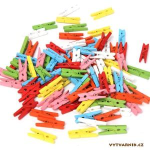 Kolíčky 25 mm  mix barev - 45 ks