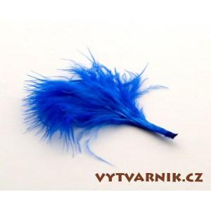 Peří marabu malé 10 ks -  modré