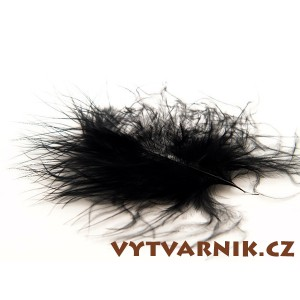 Peří marabu malé 10 ks - černé