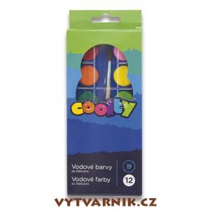 Vodové barvy Coolty  - 12 barev