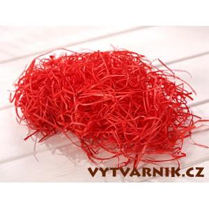 Dřevitá vlna - červená