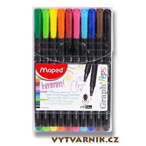Liner Maped Graph'Peps - sada 10 barev