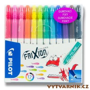 Gumovací fixy FriXion Colors - sada 12 barev