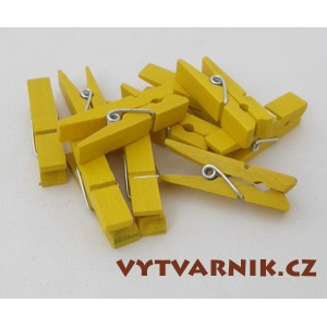 Kolíčky žluté 25 mm - 10 ks