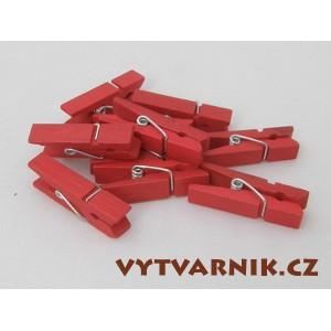 Kolíčky červené 25 mm - 10 ks
