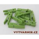 Kolíčky zelené 35 mm - 10 ks