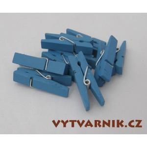 Kolíčky modré 25 mm - 10 ks