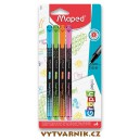 Liner Maped Graph'Peps Deco - sada 4 pastelových barev