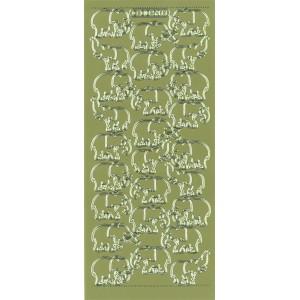 Samolepicí kontury - sloni zlato