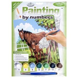 Malování podle čísel - junior - koně