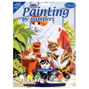 Malování podle čísel - junior - kočky