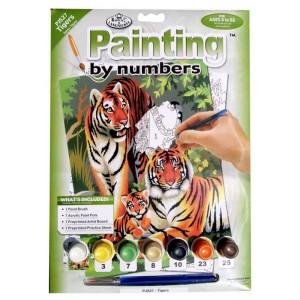 Malování podle čísel - junior - tygří rodinka