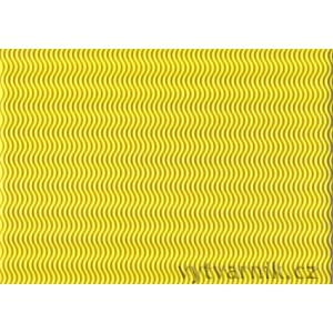 Vlnitá lepenka 3D - žlutá