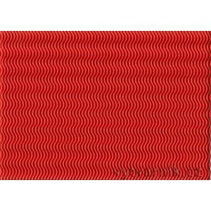 Vlnitá lepenka 3D - červená