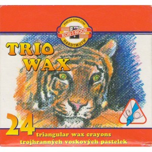 Trojhranné voskovky Koh-i-noor - 24 kusů