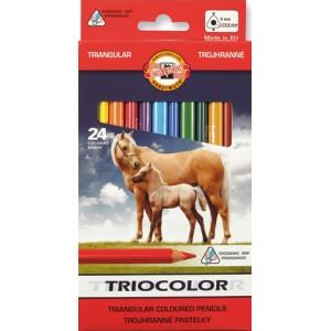 Pastelky Koh-i-noor Triocolor - 24 kusů