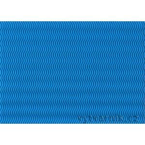 Vlnitá lepenka 3D - světle modrá