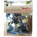 Mozaiková sklíčka - modrý mramor 10x10 mm