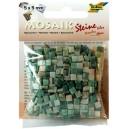 Mozaiková sklíčka - zelený mramor 5x5 mm
