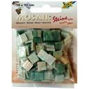 Mozaiková sklíčka - zelený mramor 10x10 mm