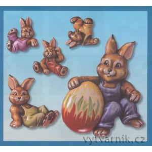 Formička na odlévání - Zajíci