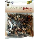 Mozaiková sklíčka - hnědý mramor 5x5 mm