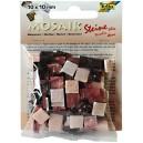 Mozaiková sklíčka - červený mramor 10x10 mm