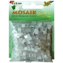 Mozaiková sklíčka - bílý mix 5x5 mm