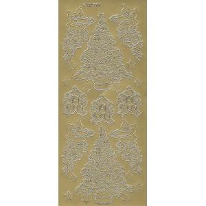 Samolepicí kontury - Vánoce zlato